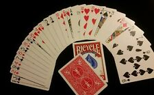SVENGALI DECK magic trick deck every deck has a different force card Bicycle red