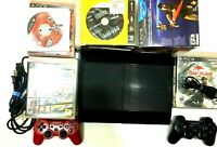 SONY PLAYSTATION 3 PS3 Console Slim Bundle 2 Controllers 45 GAMES SHIP NOW!