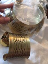 (EV) amazing chunky collar necklace brass gold statement necklace bangle set