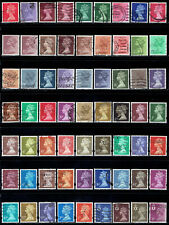 Great Britain Machin series all different lot #19 - 63 stamps