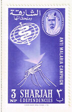 Sharjah Fauna Insects Malaria Moscuito stamp 1963 MLH