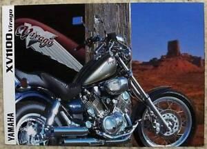 YAMAHA XV1100 VIRAGO MOTORCYCLE Sales Brochure c1998 #LTN-3MC-0107014-98E