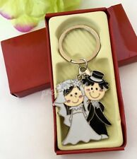 100-New Wedding Favors Box Couple Giveaways Keychains-Llaveros Recuerdos De Boda