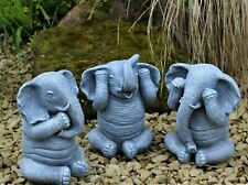 Latex and fibreglass mould 3 Wise elephant ornament 15cm tall.