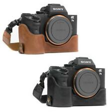 MegaGear Genuine Leather Camera Case for Sony Alpha a7S II, a7R II with Strap