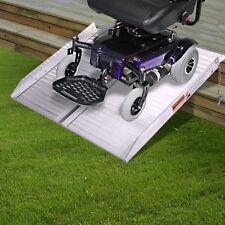 2 FT Folding Portable Mobility Metal Wheelchair Threshold Ramp Aluminium