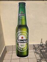 Insegna pubblicitaria birra Heineken targa latta metallo tabella teaches bar pub
