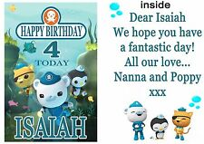 Octonauts Personalised Birthday Card - any name & age