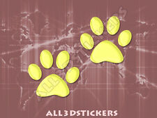 3D Sticker Decal Resin Domed Paws Adhesive Decal  Lemon Yellow