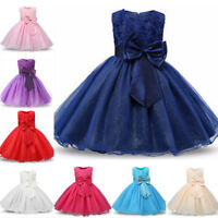 Toddler Baby Girl Sleeveless Tutu Dress Party Wedding Princess Dresses Sundress
