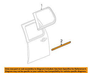 Cadillac GM OEM 07-14 Escalade ESV REAR DOOR-Body Side Molding Right 15876404