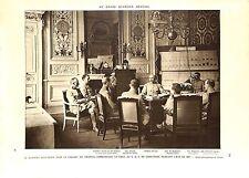 WWI GQG Compiègne Général Pétain,de Barescut,debeney Colonel Zeller ILLUSTRATION