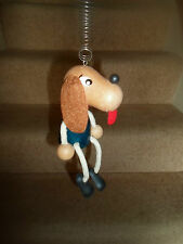 Really Cute Vintage Style Wood and String Mobile Hanging Toy - DOG