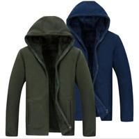 Plus Size XL-8XL Mens Casual Sport Coat Hooded Fleece Jacket Thick Warm Sweats