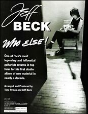 Jeff Beck Who Else 1999 Sony album ad 8 x 11 b/w advertisement print