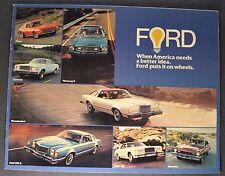 1977 Ford Catalog Brochure Mustang II LTD Granada Thunderbird Maverick Pinto 77