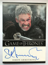 Qhorin Halfhand Simion Armstrong Game of Thrones 3 Autograph Card Auto