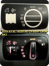 AUDI A3 8L S3 8L  A2 A6 C5 S6 C5 RS6 Leon MK1 Pegatinas  Interruptor Luces Auto