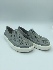 CROCS Kids Citilane Roka Perforated Loafer Size 2-3 Child gray Shoes big kid