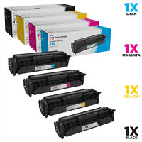 LD Remanufactured Toner Cartridges for Canon 118 (Black, Cyan, Magenta, Yellow)