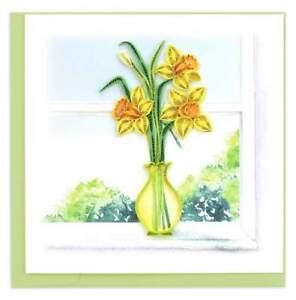 Daffodil Vase   -   Quilling Card Handmade Art Card    New