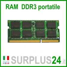 RAM 4GB DDR3 (1x 4GB) LAPTOP PC3-12800S 1600Mhz SODIMM Notebook Portatile No Ecc