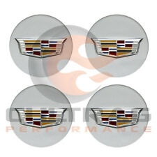 2016-2018 Cadillac CT6 GM Silver Center Cap Multicolor Logo Set Of 4 19351813