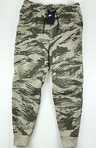 Nike Sportswear Tech Fleece Camo Slim Fit Taper Sweatpants CU4497-342 Large $120