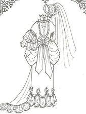 "Sewing pattern size 25""-26"" vintage Fashion doll Modern bride wedding 993"
