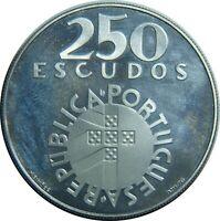 PORTUGAL 250 ESCUDOS 1974 KM#604 SILVER REVOLUTION 1974 PROOF LIKE T22