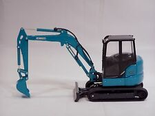 """Kobelco Sk55Srx-6 Excavator Cab & Rops - """"Aqua"""" - 1/24 -Brand New"""