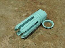 """Robins Egg Blue Cerakote 6 Point Muzzle Brake 5/8"""" x 24 tpi 300 308"""