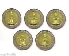 5 x 2 Euro Gedenkmünze Deutschland 2015 ADFGJ Bundesländer Hessen Paulskirche