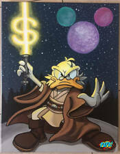 Uncle Scrooge Disney Star Wars Jedi Painting - Pop Art by PAPA (SOLD)