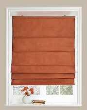 Faux suede CLEARANCE roman blinds 6ft (183cm) suede detail - Orange NOW £10.50