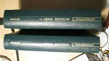 AFM53 - LIBROS - LUIGI PIRANDELLO NOVELAS ESCOGIDAS ( 2 TOMOS) EDITORIAL AGUILAR