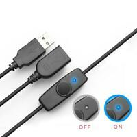 Data Sync USB 2.0 Extender Cord USB Extension Cable ON OFF Switch LED Indicator