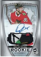2018-19 UD The Cup #102 Dylan Sikura RC RPA Rookie 5-Clr Jersey Patch Auto #/249