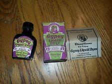 1920's Gypsy Liqiud Dye bottle in box with instructions