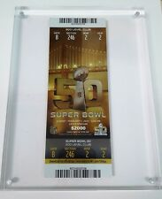Authentic NFL Super Bowl 50 $2000 Club Ticket PSA Gem Mint + Autographs + Extras