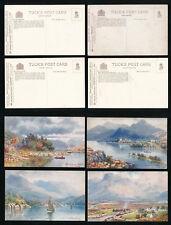 TUCKS OILETTE 7687 BONNIE SCOTLAND CALEDONIAN CANAL SERIES 2 FINE UNUSED 4 CARDS