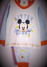 Mickey Mouse Pyjamas White PJs Boys Pj s Disney Pyjama Set Long Sleeve  T2tc111 18-24 c582593c2c9