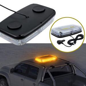 24 LED Magnetic Beacon Light Flashing Emergency Warning Strobe Lamp 12/24V Amber