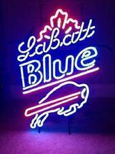 "New Labatt Blue Buffalo Bills Real glass Neon Sign 32""x24"" Beer Lamp Light"