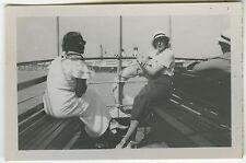 Old photo-cruise ship wife liner-boat cruising-vintage snapshot