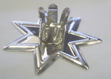 """Silver Fairy Star Candle Holder for 4"""" x 1/2"""" Candles (Ritual Spell Altar)"""
