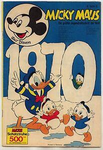 Micky Maus 1970 1- 25 komplett mit Sammelmarke, Sammelbild und Klappkarten Ehapa