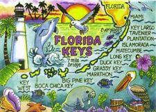 FLORIDA KEYS MAP FRIDGE COLLECTOR'S SOUVENIR MAGNET 2.5