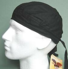 Black Bandana Zandanna Do Du Rag Durag Skullcap Hat fitted plain
