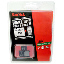 NEW Genuine SANDISK1GB MICRO Memory STICK M2 Memory Card w Adapt ERICSSON Phones